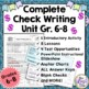 Check Writing Unit, Activities, Lessons & Tests – Grades 6-8