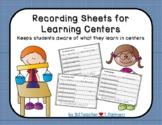 Checklists for Centers - Student records