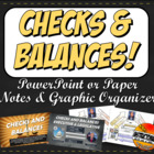 Checks and Balances Graphic Organizer, Printable Visual Su