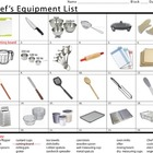 Chef&#039;s Equipment List (One)
