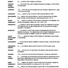 Chemical Reactions Glossary