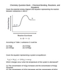 Chemistry Question Bank - Chemical Reactions/Equations (9 - 12)