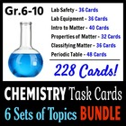 Chemistry Task Cards BUNDLE - 6 Sets of Topics