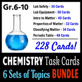 Chemistry Task Cards BUNDLE - 6 Sets of Topics {With Edita