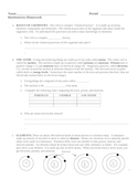 Chemistry of Living Things - Biochemistry Homework Assignment
