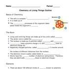Chemistry of Living Things - Biochemistry Notes Outline Le