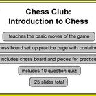 Chess Club Intro to Chess 1st - HS Promethean ActivInspire