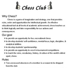 Chess Club syllabus