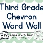 Chevron 3rd Grade Word Wall Printables