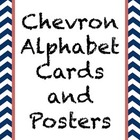 Chevron Alphabet Cards/Posters--Blue