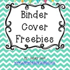 Chevron Binder Covers and Spine Inserts  {FREEBIE}
