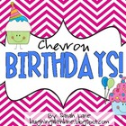 Chevron Birthday Month Labels