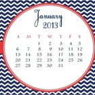 Chevron Calendar- month of January