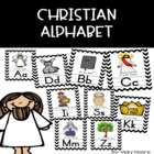 Chevron Christian Alphabet Wall Cards { perfect for the ch