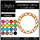 Chevron Circle Frames {Graphics for Commercial Use}