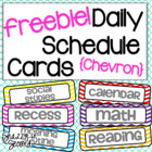 Chevron Class Schedule Cards - FREEBIE!