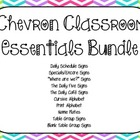 Chevron Classroom Essentials Bundle