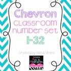 Chevron Classroom Number Set {1-32}