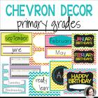 Chevron Classrooom Theme Pack and Decor Bundle (editable)
