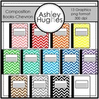 Chevron Composition Books {Graphics for Commercial Use}