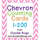 Chevron Counting Cards - Count from 1-200 Pre-K, Kindergar