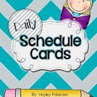 Daily Schedule Cards: Dark Turquoise and Gray