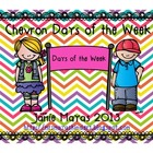 Chevron Days of the Week Banner