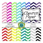 Chevron Digital Background Papers ~ 16 Colors