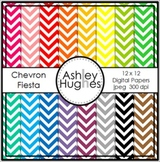 Chevron Fiesta 1 {12x12 Digital Papers for Commercial Use}