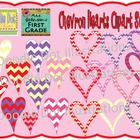Chevron Hearts {Graphics for Commercial Use}