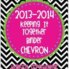 Chevron Keeping It Together Binder