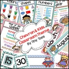 Chevron Kids Editable Classroom Theme Set for Back to School