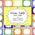 Chevron Labels Basic Colors