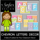 Chevron Letters Pack {Brights}
