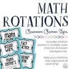 Chevron Math Rotations Signs