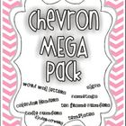 Chevron Mega Pack {Word Wall, Ten-Frame Numbers, Binder Co