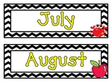 Chevron Months & Days Calendar Set