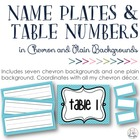 Chevron Name Plates, Bin Cards &amp; Table Numbers