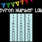 Chevron Number Labels Freebie