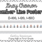 Chevron Number Line {grey}