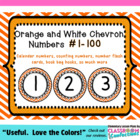 Chevron Numbers {Orange Numbers 1-100}