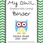 Chevron OWL Binder Second Grade