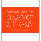 Chevron Print Classroom Clip Chart for Behavior Management