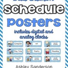 Chevron Schedule Cards {blue}