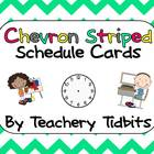 Chevron Schedule Cards {pink, yellow, gray, and teal}