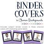 Chevron Subject Binder Covers