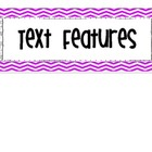 Chevron Text Feature Anchor Charts