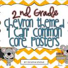 "Chevron Themed ""I Can"" Common Core Posters {2nd Grade}"
