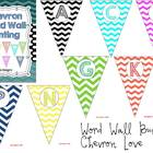 Chevron Word Wall Bunting