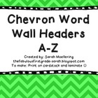Chevron Word Wall Headers (Blue, Green, Purple, Turquoise)